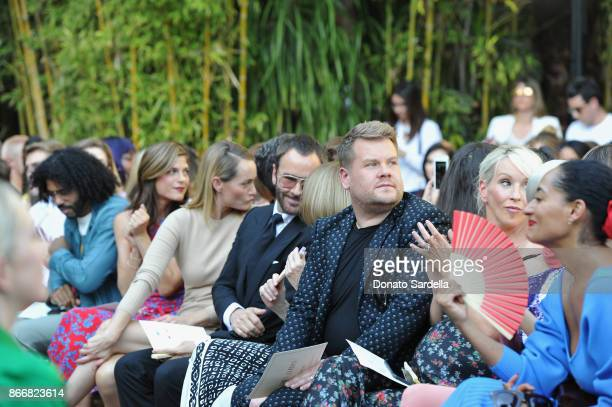 Selma Blair Amber Valletta Tom Ford James Corden Julia Carey and Tracee Ellis Ross attend CFDA/Vogue Fashion Fund Show and Tea at Chateau Marmont at...