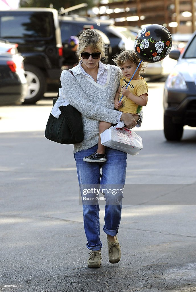 Selma Blair and her son, Arthur Saint Bleick, are seen on November 17, 2013 in Los Angeles, California.