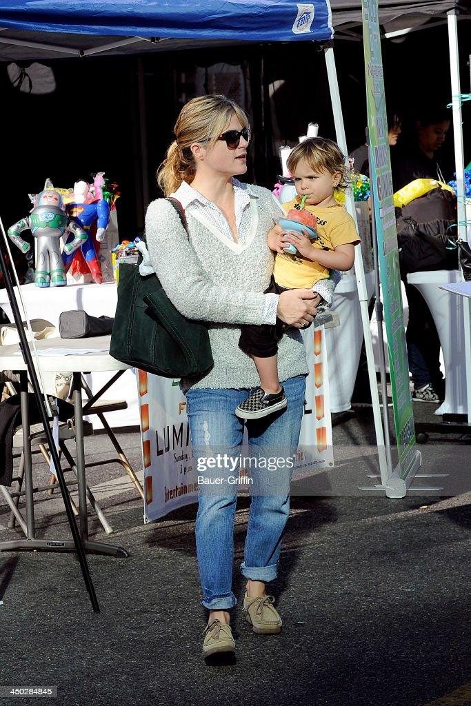 Selma Blair and her son, Arthur Saint Bleick, are seen on November 17, 2013 in Los Angeles, California.