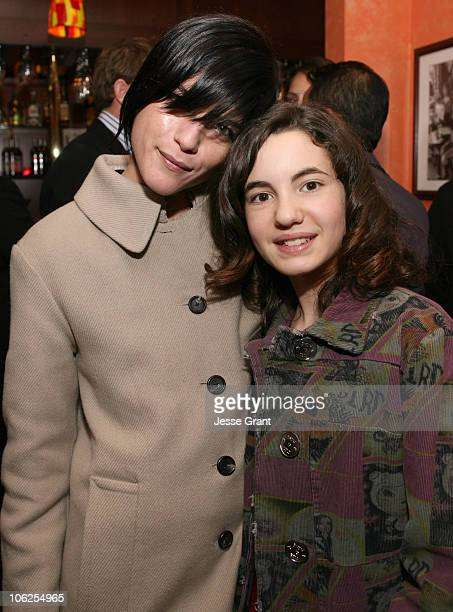Selma Blair and Ivana Baquero during 'Pan's Labyrinth' Los Angeles Screening After Party at Cafe des Artistes in Hollywood California United States