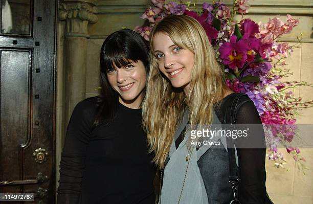 Selma Blair and Vanessa Traina during CFDA/VOGUE Fashion Show Sponsored by Cartier at Chateau Marmont in Los Angeles California United States Photo...