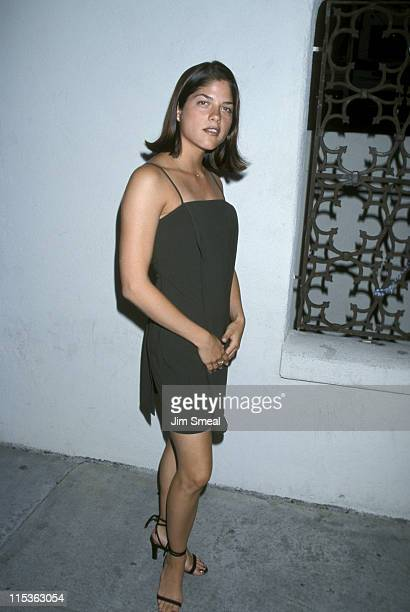 Selma Blair during 1998 WB All Star Party at Twin Palms Restaurant in Pasadena California United States