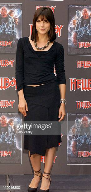 Selma Blair during 'Hellboy' Spain Photocall at Villa Magna Hotel in Madrid Spain
