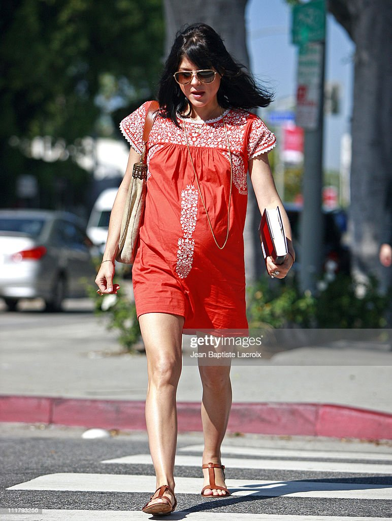 Selma Blair is seen at Urth Caffe on April 5, 2011 in Los Angeles, California.