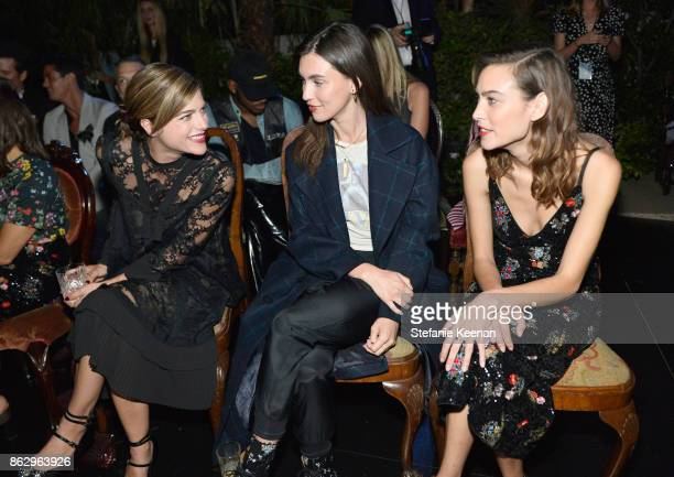 Selma Blair Rainey Qualley and Alexa Chung at HM x ERDEM Runway Show Party at The Ebell Club of Los Angeles on October 18 2017 in Los Angeles...