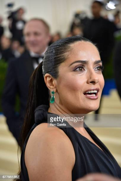 Selma Hayek at Metropolitan Museum of Art on May 1 2017 in New York City
