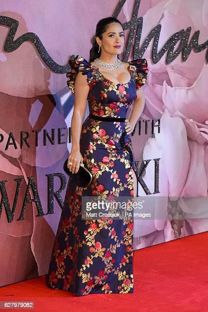 Selma Hayek attending The Fashion Awards 2016 at the Royal Albert Hall London PRESS ASSOCIATION Photo Picture date Tuesday December 6th 2016 Photo...