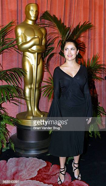 Selma Hayek Best Actress nominee for 'Frida' at Oscar nominees luncheon at Beverly Hilton Hotel in Beverly Hills Monday March 10 02003 photo– ^^^/LA...