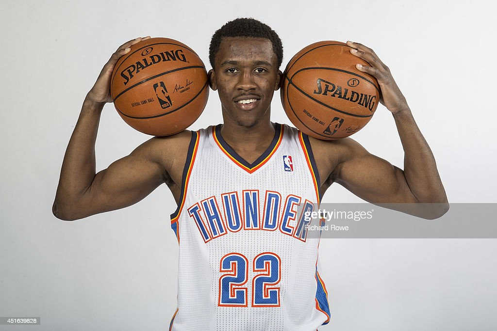 Semaj Christon #22 of the Oklahoma City Thunder poses for a portrait during a 2014 NBA shoot on July 2, 2014 in Oklahoma City, Oklahoma.