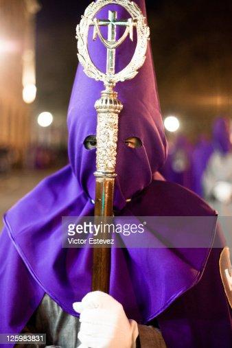 Semana santa, Holy Week Nazarene : Stock Photo