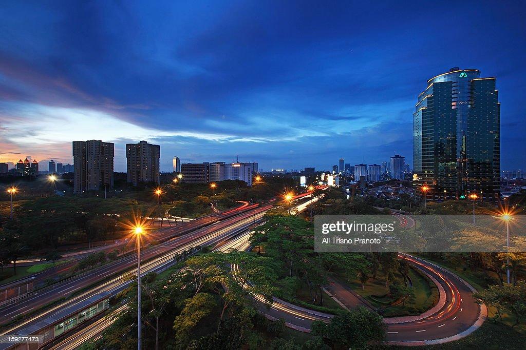 Semanggi Road : Stock Photo