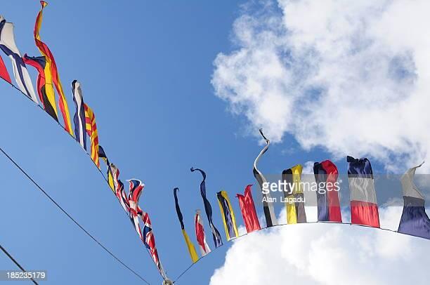 Sinalização com Bandeiras bandeiras, Jersey.