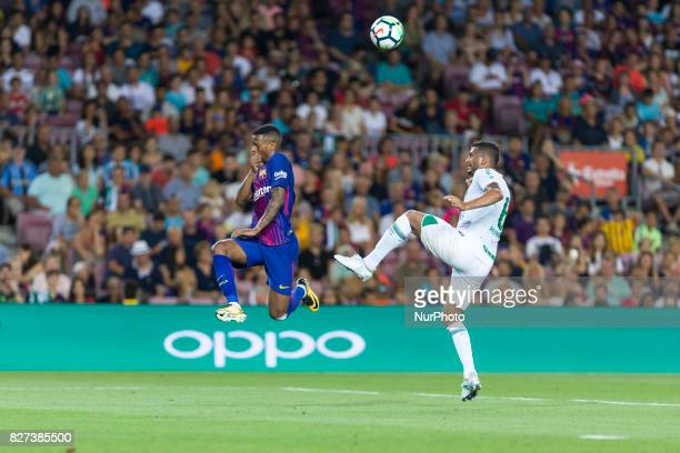 Semedo of FC Barcelona and Reinaldo during the match between FC Barcelona vs Chapecoense for the Joan Gamper trophy played at Camp Nou Stadium on 7th...