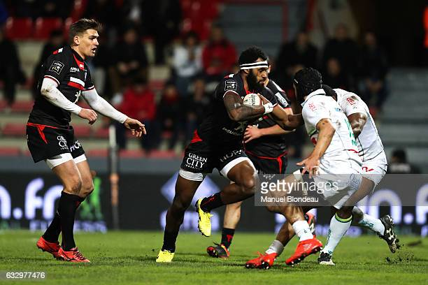 Semi Kunatani of Pau during the French Top 14 match between Toulouse and Pau at Stade Ernest Wallon on January 28 2017 in Toulouse France