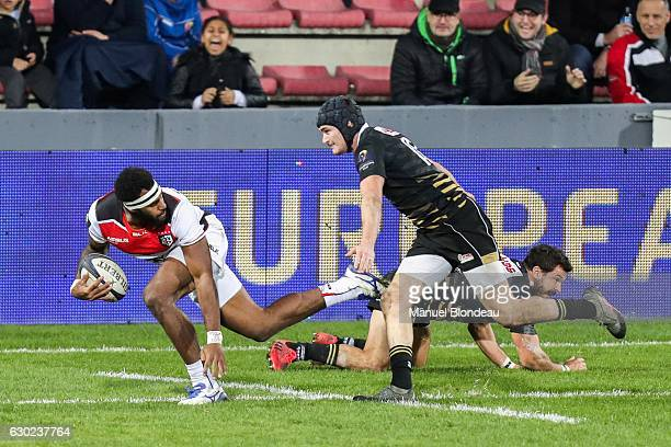 Semi kunatani of Toulouse during the European Champions Cup match between Stade Toulousain and Zebre at Stade Ernest Wallon on December 17 2016 in...