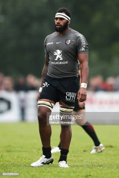 Semi Kunatani of Toulouse during the preseason match between Stade Toulousain Toulouse and Racing 92 at on August 18 2017 in Lannemezan France
