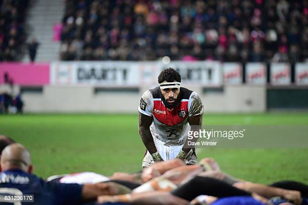Semi Kunatani of Toulouse during the Top 14 match between Stade Francais and Stade Toulousain on January 8 2017 in Paris France