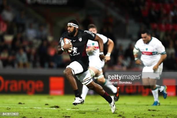 Semi Kunatani of Toulouse during the Top 14 match between Toulouse and Pau on September 2 2017 in Toulouse France