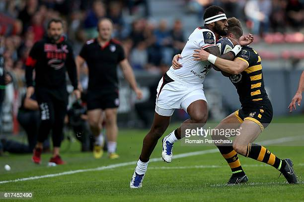 Semi Kunatani of Toulouse in action during the European Rugby Champions Cup between Stade Toulousain and London Wasps at Stade Ernest Wallon on...