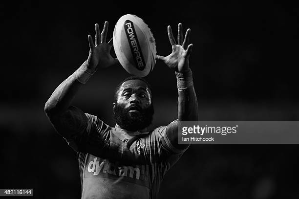 Semi Radradra of the Eels atempts to regather the ball during the round 20 NRL match between the North Queensland Cowboys and the the Parramatta Eels...
