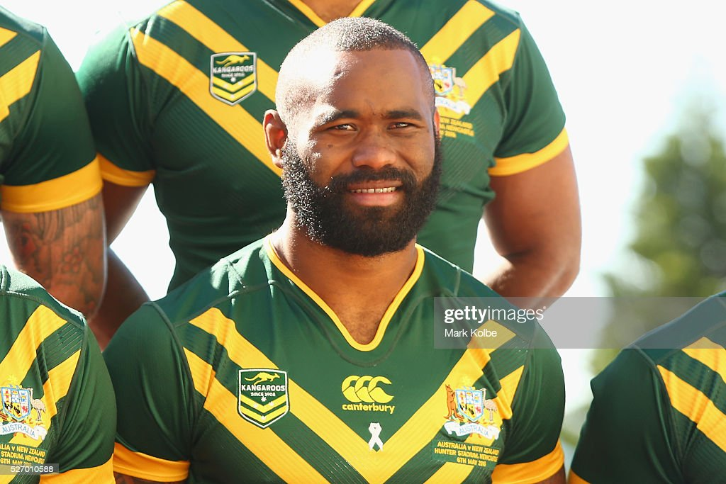 Semi Radradra poses during the Australia Kangaroos Test team photo session at Crowne Plaza Coogee on May 2, 2016 in Sydney, Australia.