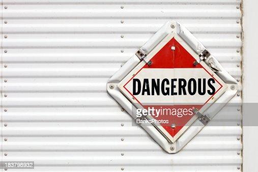 Semi Trailer Dangerous Warning Placard