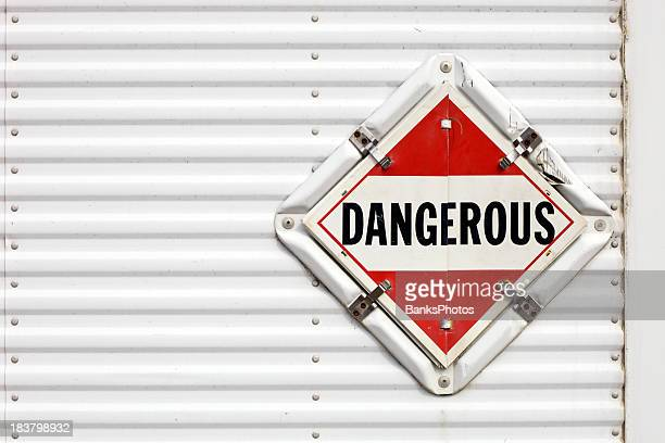 Halb Trailer gefährliche Warnung Transparent