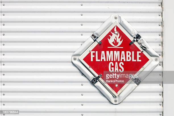 Semi Trailer Flammable Gas Warning Placard