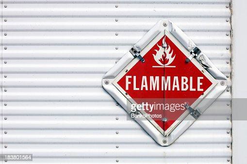 Semi Trailer Flammable Warning Placard