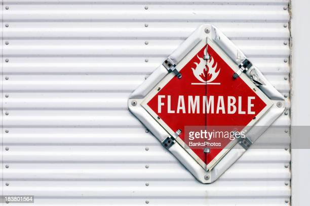 Semi Trailer Flammable Warning Placard