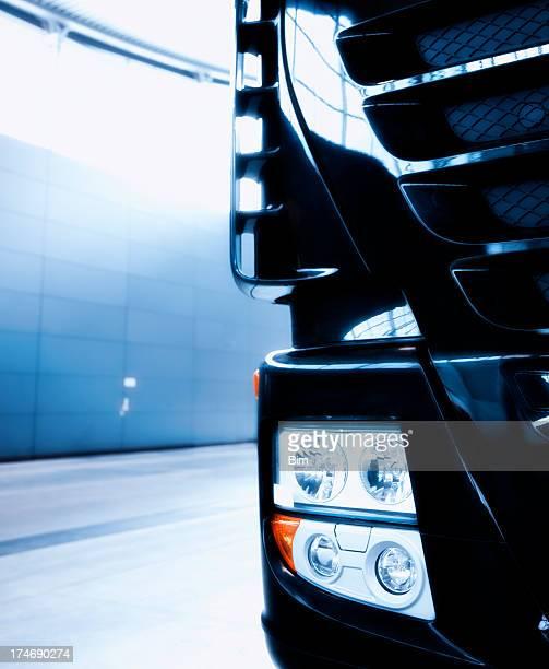 Semi Truck der Detailansicht