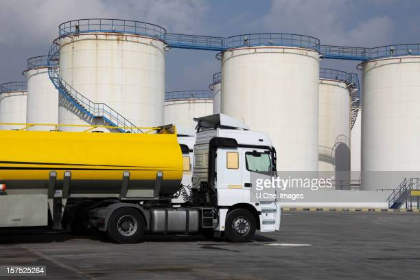 Semi Truck Oil : Fuel tanker stock photos and pictures getty images