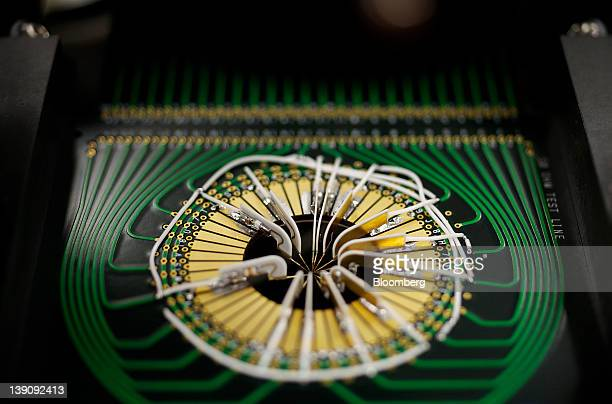 Semiconductor chips for radio frequency communications devices are tested for quality at RF Micro Devices Inc headquarters in Greensboro North...