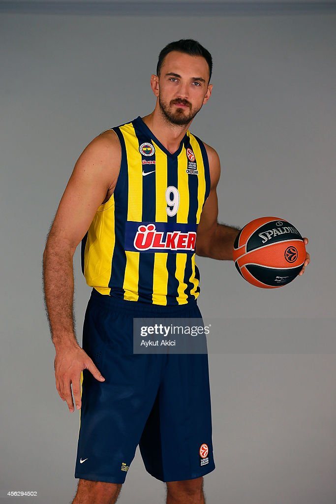 Semih Erden, #9 poses during the Fenerbahce Ulker Istanbul 2014/2015 Turkish Airlines Euroleague Basketball Media Day at Ulker Sport Arena on September 27, 2014 in Istanbul, Turkey.
