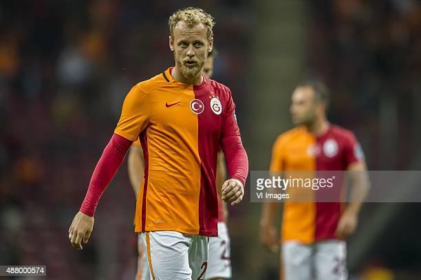 Semih Kaya of Galatasaray during the Turkish Super Lig match between Galatasaray and Mersin Idmanyurdu on September 12 2015 at the Turk Telekom...