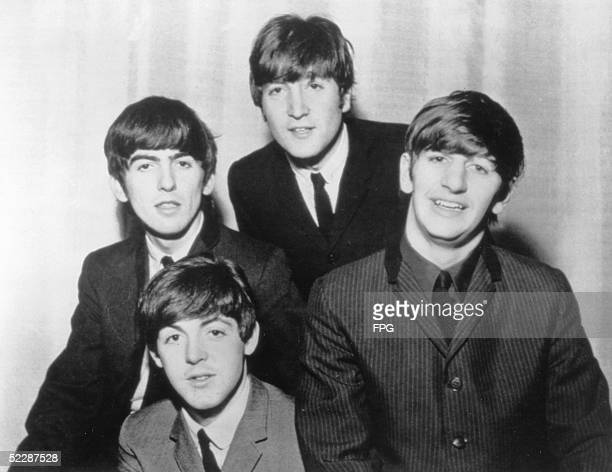 Seminal English pop group the Beatles circa 1965