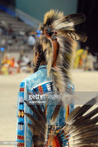 Indio seminola warrior desde detrás