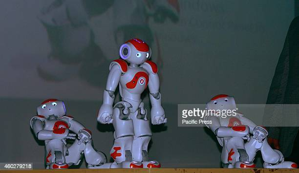 Semisensitive robot dance during the '7th Science Conclave' at Indian Institute of Information technology in Allahabad