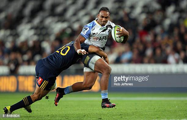 Semisi Masirewa of the Western Force on the charge during the round six Super Rugby match between the Highlanders and the Western Force at Forsyth...