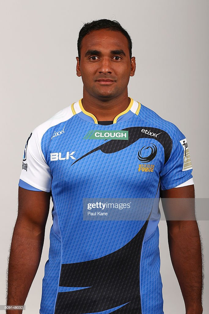 Semisa Masiwera poses during the Western Force 2016 Super Rugby headshots session on February 9, 2016 in Perth, Australia.