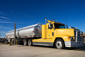 Semi-truck fuel truck
