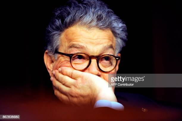Sen Al Franken listens to the testimony of Attorney General Jeff Sessions during a Senate Judiciary Committee hearing on 'Oversight of the US...