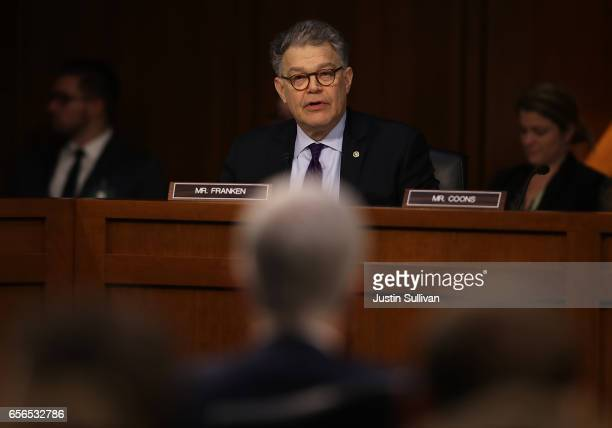 S Sen Al Franken questions Judge Neil Gorsuch during the third day of his Supreme Court confirmation hearing before the Senate Judiciary Committee in...