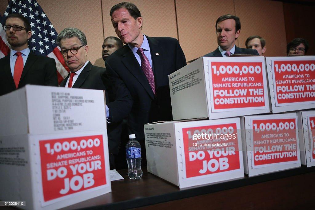 Senate Democrats Discuss Supreme Court Vacancy