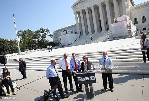 Sen Amy Klobuchar DMN calls for Senate Judiciary conformation hearings for Supreme Court nominee Merrick Garland during a news conference news...