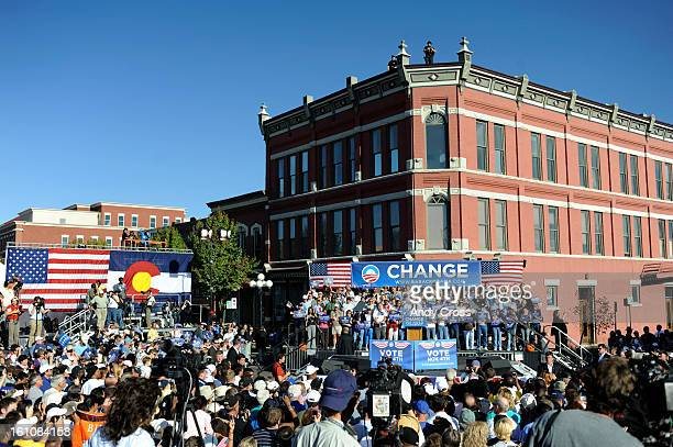 PUEBLO CO NOVEMBER 1ST2008 Sen Barack Obama and his wife Michelle hosted a 'Change We Need' rally at the Union Avenue Historic District in Pueblo...