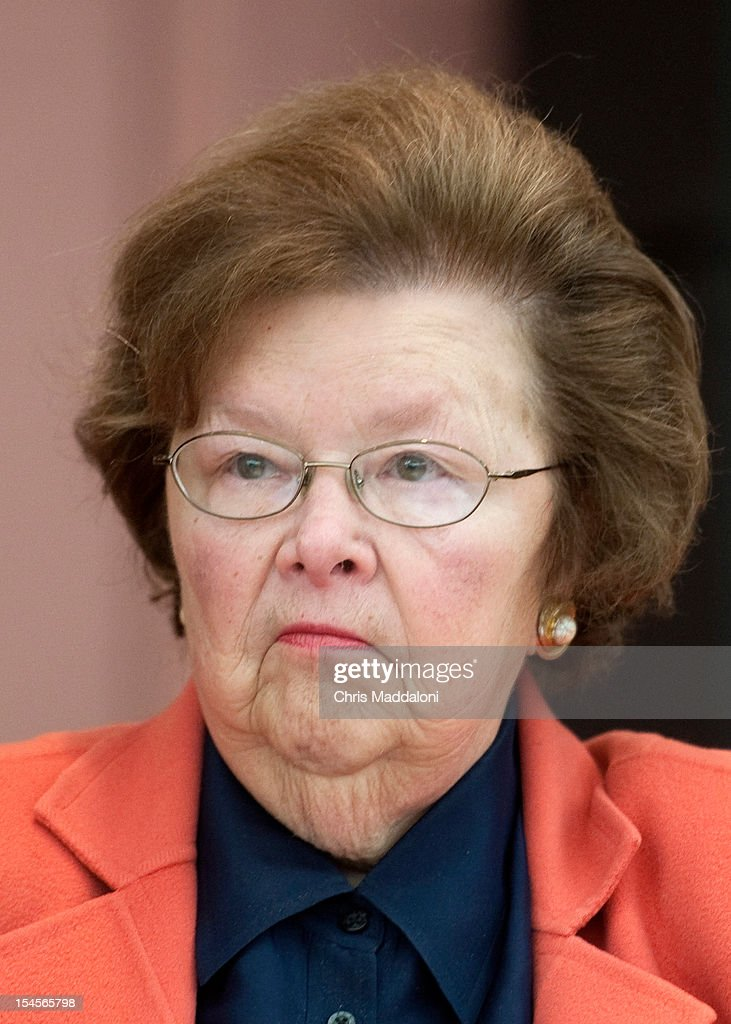Sen. Barbara Mikulski, D-Md., speaks to senior citizens about Medicare, Social Security and events unfolding in the Middle East at the Leisure World retirement community in Silver Spring, Md.