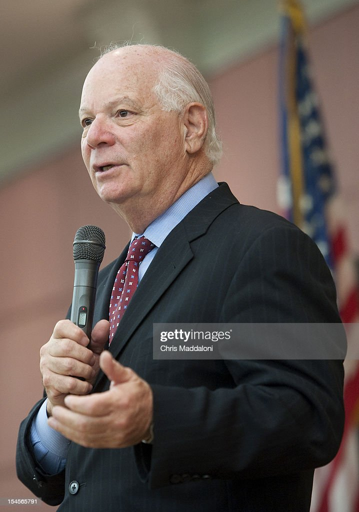 Sen. Ben Cardin, D-Md., speaks to senior citizens about Medicare, Social Security and events unfolding in the Middle East at the Leisure World retirement community in Silver Spring, Md.