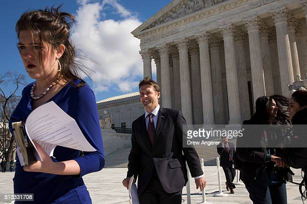 Sen Ben Sasse leaves the Supreme Court March 2 2016 in Washington DC On Wednesday morning the Supreme Court will hear oral arguments in the Whole...