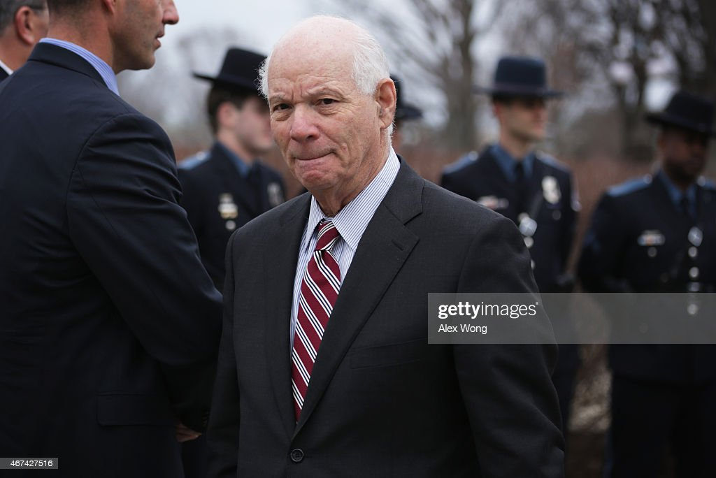 U.S. Sen. Benjamin Cardin (D-MD) leaves after he spoke during a news conference March 24, 2015 on Capitol Hill in Washington, DC. A group of bipartisan lawmakers held the news conference urging to create a national alert system 'to apprehend violent criminals who have injured or killed police officers.'